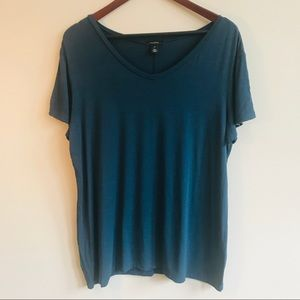Halogen Tunic Length Tee In Teal Blue